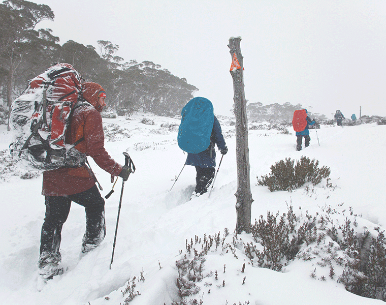 A MID-WINTER HIKE ON TASMANIA'S OVERLAND TRACK