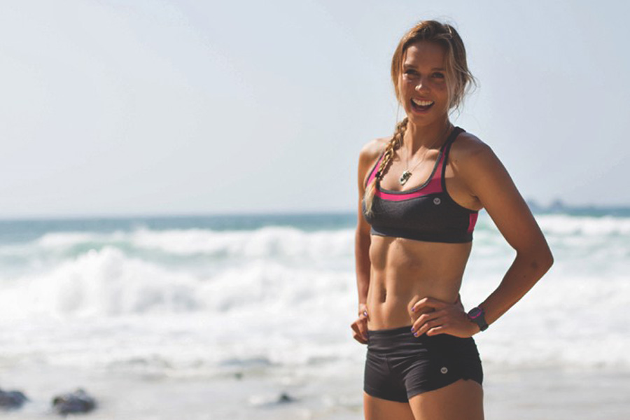 Work out with Sally Fitzgibbons Surfer